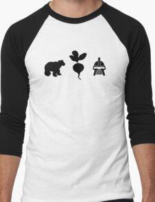 Bears. Beets. Battlestar Galactica. Men's Baseball ¾ T-Shirt