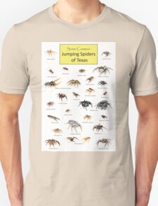 Common Jumping Spiders of Texas Poster Unisex T-Shirt