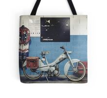Mobylette Bleue Tote Bag