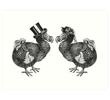 Mr & Mrs Dodo | Black & White Art Print