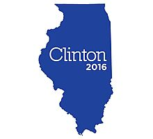 Hillary Clinton 2016 State Pride - Illinois Photographic Print