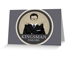Kingsman Tailor Logo Greeting Card