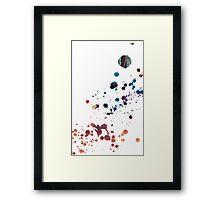 Nebula Splatters Framed Print