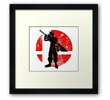 Cloud Strife Smash - Red Framed Print