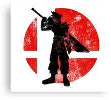Cloud Strife Smash - Red Canvas Print