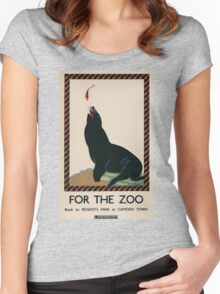 Vintage poster - London Zoo Women's Fitted Scoop T-Shirt