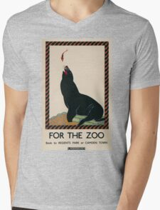 Vintage poster - London Zoo Mens V-Neck T-Shirt