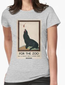 Vintage poster - London Zoo Womens Fitted T-Shirt