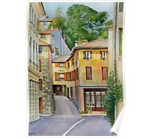 Asolo historic town centre in Northern Italy Poster
