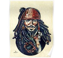 Cap'n Jack Sparrow by Indigo East Poster
