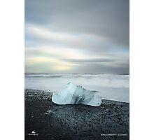 Black Sand Iceberg Photographic Print