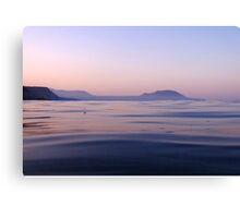 Greek Ocean Sunset Canvas Print