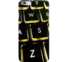 WASD Black and Gold iPhone Case/Skin
