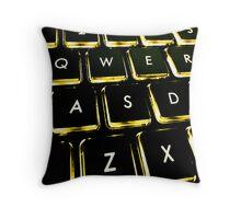 WASD Black and Gold Throw Pillow