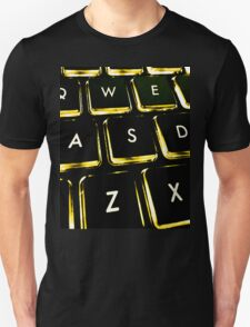 WASD Black and Gold Unisex T-Shirt