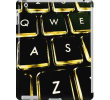 WASD Black and Gold iPad Case/Skin