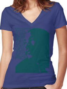 MLK Women's Fitted V-Neck T-Shirt