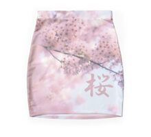 Lovely Light Pink Ethereal Glowing Cherry Blossoms Mini Skirt