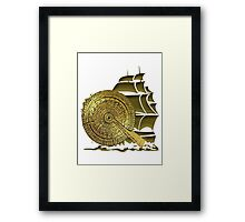 A Nocturnal Voyage At Sea Framed Print