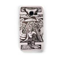 Mermaid pose inked Samsung Galaxy Case/Skin