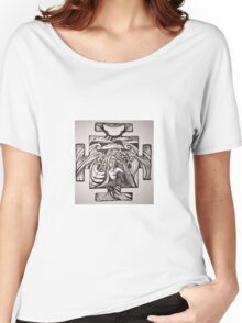 Mermaid pose inked Women's Relaxed Fit T-Shirt