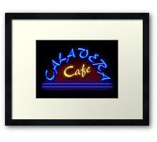 Calavera Cafe Framed Print