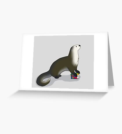 Otters REALLY Like Rubiks Cubes Greeting Card
