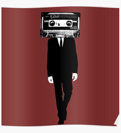 Retro tape head Poster