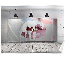 Kylie Jenner Lips Canvas Poster