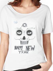 day of dead skull face travel mug Women's Relaxed Fit T-Shirt