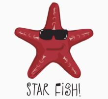 Star Fish Red Kids Tee