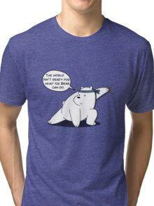 The world isn't ready for what Ice Bear can do - We Bare Bears - Cartoon Network Tri-blend T-Shirt