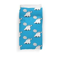The world isn't ready for what Ice Bear can do - We Bare Bears - Cartoon Network Duvet Cover