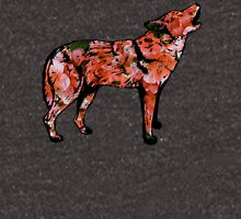Howling Wolf with Salmon Pink Geraniums Unisex T-Shirt
