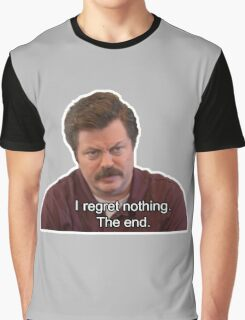 Ron Swanson- I Regret Nothing Graphic T-Shirt