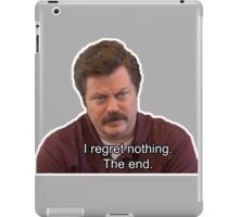 Ron Swanson- I Regret Nothing iPad Case/Skin