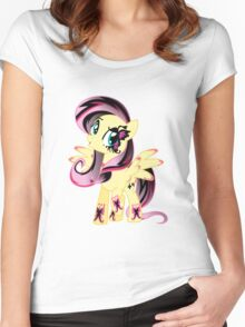Goth Fluttershy Women's Fitted Scoop T-Shirt