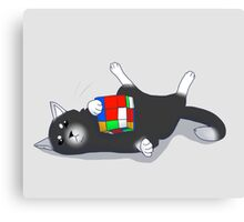 Cats Like Rubiks Cubes Canvas Print
