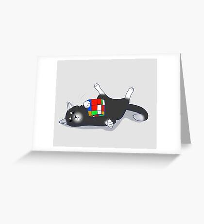 Cats Like Rubiks Cubes Greeting Card