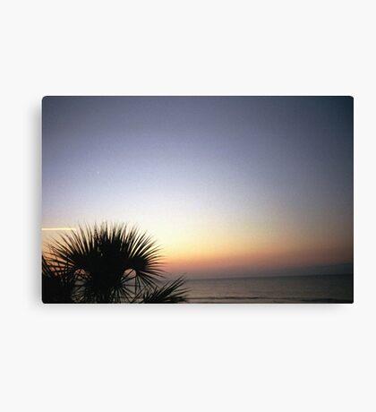 Film Beach Shot Canvas Print