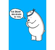 Ice Bear Believes In You - We Bare Bears - Cartoon Network Photographic Print