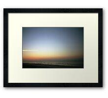 Film Beach Shot Framed Print