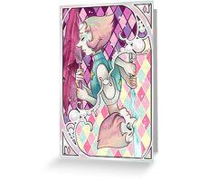 Jack of Pink diamonds Greeting Card