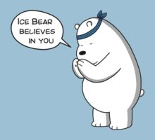 Ice Bear Believes In You - We Bare Bears - Cartoon Network One Piece - Short Sleeve