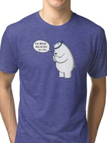 Ice Bear Believes In You - We Bare Bears - Cartoon Network Tri-blend T-Shirt
