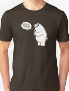 Ice Bear Believes In You - We Bare Bears - Cartoon Network Unisex T-Shirt
