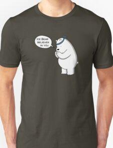 Ice Bear Believes In You - We Bare Bears - Cartoon Network Unisex T-Shirt