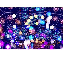 Colorful Psychedelic Bokeh Lights Shapes Amusement Park Tokyo Photographic Print