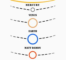 The Solar System and Matt Damon Unisex T-Shirt