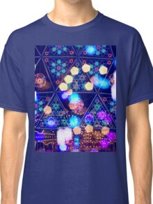 Colorful Psychedelic Bokeh Lights Shapes Amusement Park Tokyo Classic T-Shirt